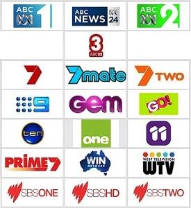 australian tv channels